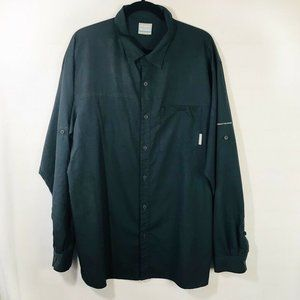 Columbia Insect Blocker Button Front Shirt, XL
